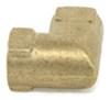 "Kodiak Elbow Fitting for Hydraulic Brake Hose - Brass - 3/16"" Female Inverted Flares Hydraulic Drum Brakes BH-L-3FIF"