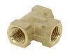 "Kodiak Tee Fitting for Hydraulic Brake Hose - Brass - 3/16"" Female Inverted Flares Hydraulic Drum Brakes BH-T-3FIF"
