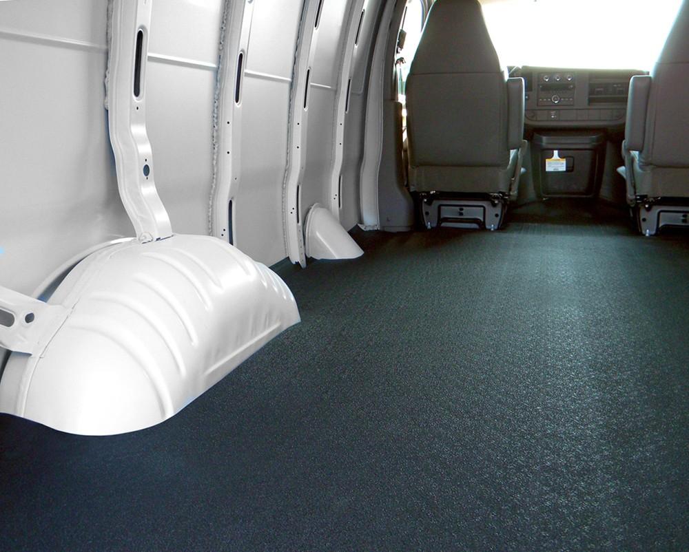 2017 Gmc Savana Van Vantred Custom Floor Mat For Cargo Vans Black Thermoplastic
