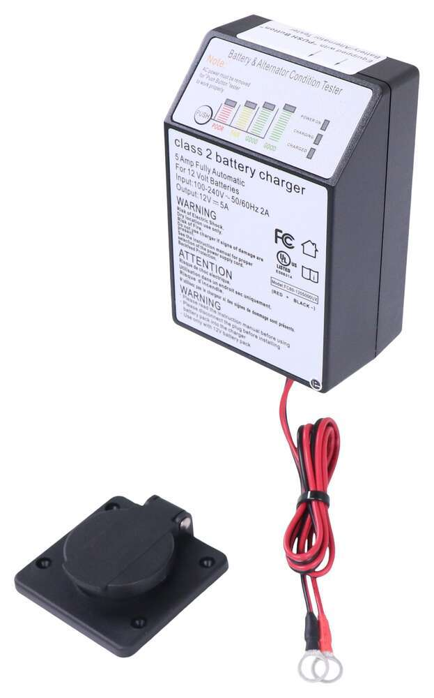 Bright Way Switch Mode Battery Charger for Hydraulic Lift and Dump Trailers - 12V - 5 Ah Trailer BRW77FR