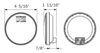 optronics trailer lights tail 4-1/2 inch diameter
