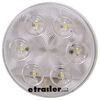 optronics trailer lights tail submersible led backup light for truck or - 6 diodes round clear lens qty 1
