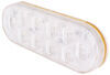optronics trailer lights tail submersible led backup light for truck or - 10 diodes oval clear lens qty 1