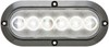 Optronics FLEET Count LED Backup Light for Truck or Trailer - Submersible - 6 Diodes - Clear Lens Oval BUL12CFB