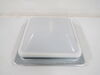 Replacement Dome for Ventline Ventadome Trailer Roof Vent - White - Wedge Shape - Plastic Continuous Hinge BVD0449-A01