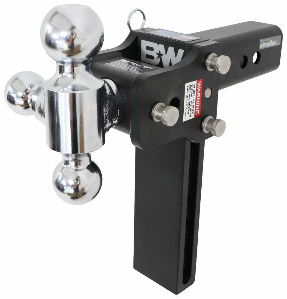 1-7//8 x 2 5//16 x 2 Balls B/&W Trailer Hitches TS20050B Tow and Stow 9 Adjustable Ball Mount for 2.5 Receiver