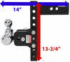 b and w trailer hitch ball mount adjustable 3500 lbs gtw 7500 14500 b&w tow & stow 3-ball - 2-1/2 inch 9 drop 9-1/2 rise 14.5k
