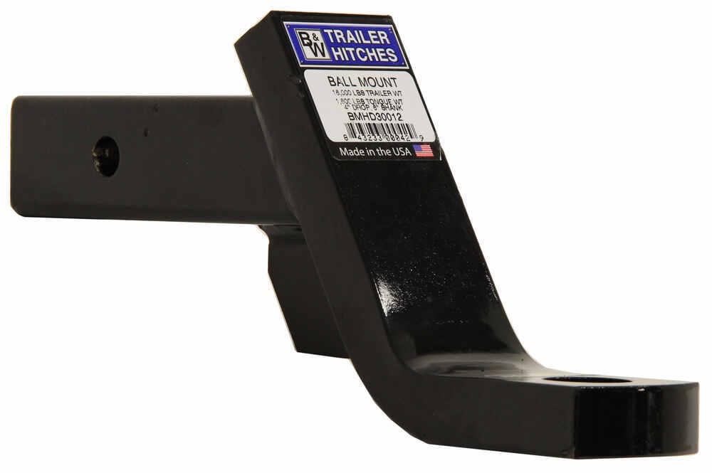"""B&W Heavy-Duty Ball Mount - 3"""" Rise, 4"""" Drop - 9-5/8"""" Long - 16,000 lbs Steel Shank BWBMHD30012"""