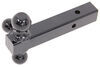 b and w trailer hitch ball mount fixed 1-7/8 inch 2 2-5/16 three balls b&w triple tow tri-ball for hitches - black powder coated