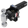 b and w trailer hitch ball mount two balls drop - 3 inch rise