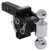 b and w trailer hitch ball mount adjustable drop - 3 inch rise b&w tow & stow 2-ball 2 3.5 10k browning
