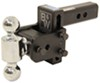 b and w trailer hitch ball mount adjustable drop - 3 inch rise bwts10035b
