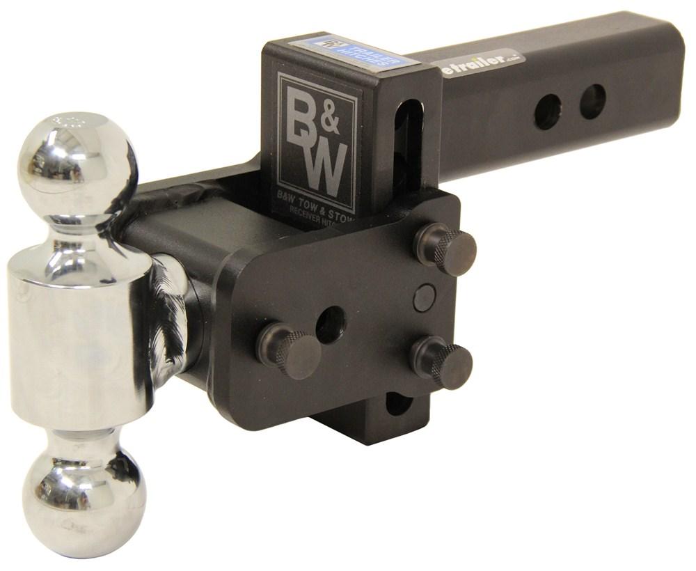 BWTS10035B - Steel Shank - Matte Black B and W Adjustable Ball Mount