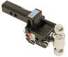 b and w trailer hitch ball mount adjustable class iv 7500 lbs gtw b&w tow & stow 2-ball - 2 inch 3 drop 3-1/2 rise 7.5k black
