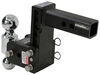 "B&W Tow & Stow 2-Ball Mount - 2"" Hitch - 5"" Drop, 5-1/2"" Rise - 10K - Black Fits 2 Inch Hitch BWTS10037B"