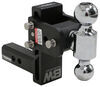 "B&W Tow & Stow 2-Ball Mount - 2"" Hitch - 5"" Drop, 5-1/2"" Rise - 10K - Black Steel Ball BWTS10037B"