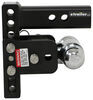 "B&W Tow & Stow 2-Ball Mount - 2"" Hitch - 5"" Drop, 5-1/2"" Rise - 10K - Black Drop - 5 Inch,Rise - 5 Inch BWTS10037B"