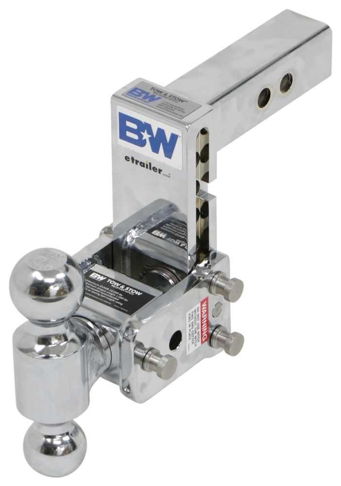 BWTS10037C - Steel Shank - Silver B and W Adjustable Ball Mount