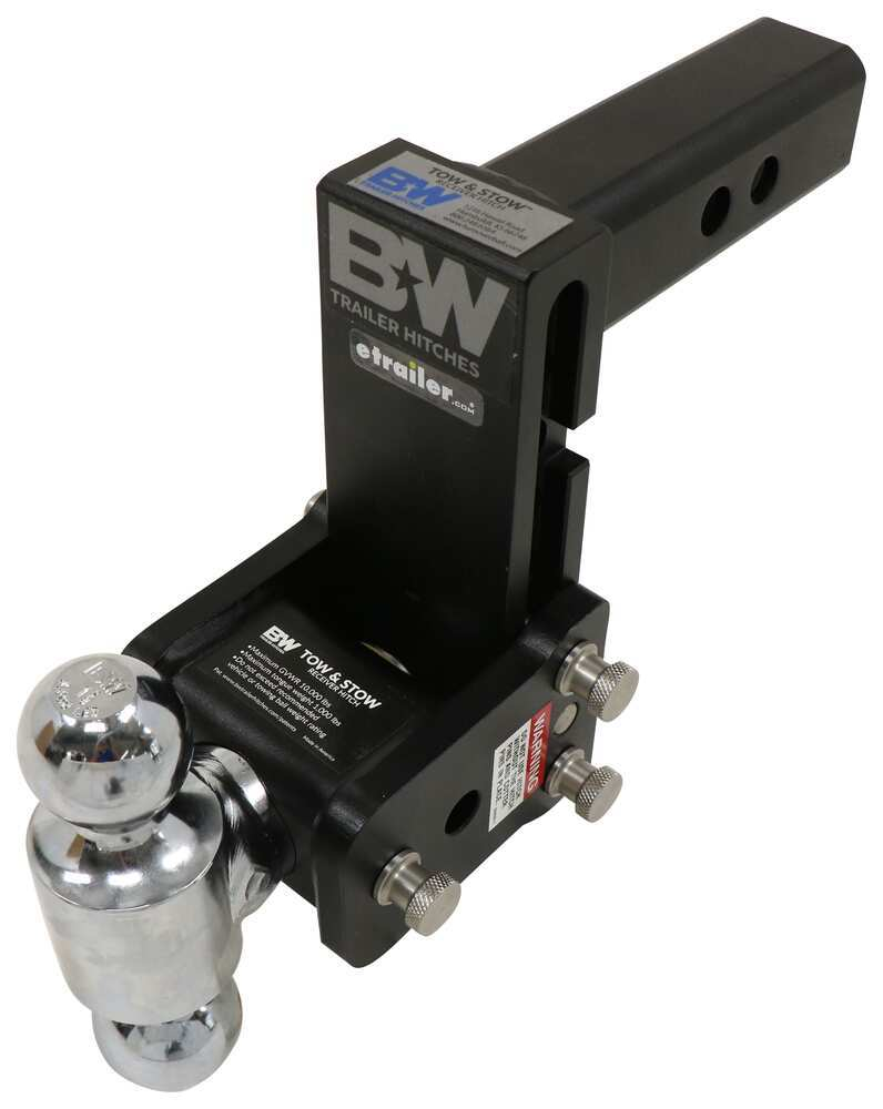 B and W Steel Ball Trailer Hitch Ball Mount - BWTS10038B