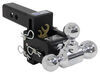 b and w trailer hitch ball mount three balls drop - 3 inch rise bwts10047bb