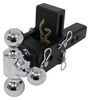 b and w trailer hitch ball mount adjustable class iv 10000 lbs gtw b&w tow & stow 3-ball - 2 inch 3 drop 3.5 rise 10k browning