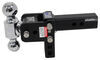 b and w trailer hitch ball mount adjustable drop - 3 inch rise b&w tow & stow 3-ball 2 3.5 10k browning