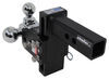 b and w trailer hitch ball mount adjustable drop - 5 inch rise bwts10048bb