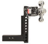 B and W Drop - 8 Inch,Rise - 9 Inch Trailer Hitch Ball Mount - BWTS10050B
