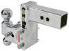 """B&W Tow & Stow 2-Ball Mount - 2.5"""" Hitch - 5"""" Drop/4.5"""" Rise - 14.5K - Chrome Drop - 5 Inch,Rise - 4-1/2 Inch BWTS20037C"""