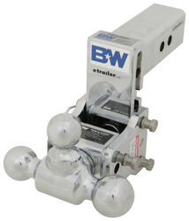 B and W TS20049B Tow and Stow Receiver Hitch Tri-Ball with 2.5 Shank 7.5 Rise Plus 5//8 Black Receiver Lock 7 Drop