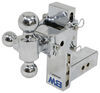 "B&W Tow & Stow 3-Ball Mount - 2.5"" Hitch - 7"" Drop/7.5"" Rise - 14.5K - Chrome Fits 2-1/2 Inch Hitch BWTS20049C"