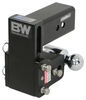 """B&W Tow & Stow 2-Ball Mount - 3"""" Hitch - 4-1/2"""" Drop, 4"""" Rise - 21K - Black Fits 3 Inch Hitch BWTS30037B"""