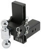 b and w trailer hitch ball mount adjustable 2 inch 2-5/16 two balls b&w tow & stow 2-ball - 3 -7-1/2 drop 7 rise 21k black