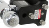 b and w trailer hitch ball mount adjustable class v 21000 lbs gtw b&w tow & stow 2-ball - 3 inch -7-1/2 drop 7 rise 21k black