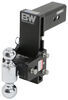 b and w trailer hitch ball mount adjustable drop - 7-1/2 inch rise 7 b&w tow & stow 2-ball 3 -7-1/2 21k black