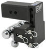 "B&W Tow & Stow 3-Ball Mount - 3"" Hitch - 4-1/2"" Drop, 4"" Rise - 21K - Black Steel Ball BWTS30048B"