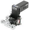 b and w trailer hitch ball mount adjustable drop - 4-1/2 inch rise 4 b&w tow & stow 3-ball 3 21k black
