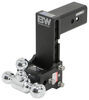 b and w trailer hitch ball mount adjustable drop - 7-1/2 inch rise 7 b&w tow & stow 3-ball 3 21k black