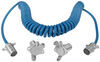 Blue Ox 4-Wire, Coiled Electrical Cord with 4-Way, Round Plugs 4 Round to 4 Round BX8861