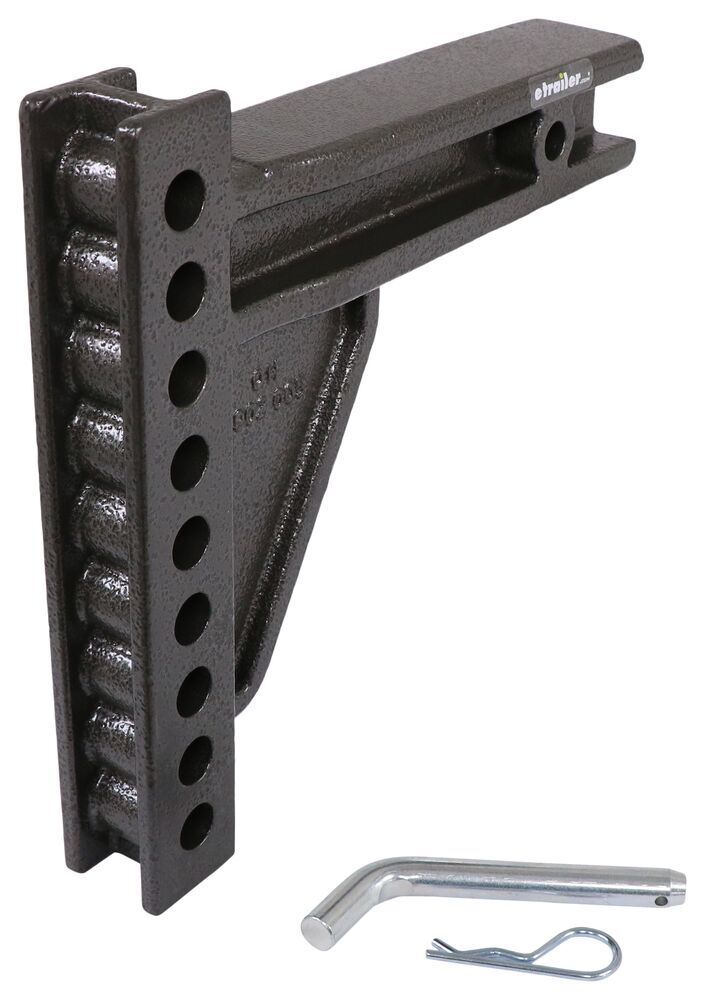 """Blue Ox SwayPro Weight Distribution Shank for 2-1/2"""" Hitches - 9"""" Long - 9 Hole Adjustment 20000 lbs GTW BXW4028"""