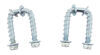 Replacement U-Bolt Kit for Curt Gooseneck Hitch Safety Chain Loops C-600SK6