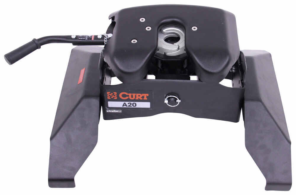 Curt A20 5th Wheel Trailer Hitch for Chevy/GMC Towing Prep Package - Dual Jaw - 20,000 lbs 13 - 17 Inch Tall C16064