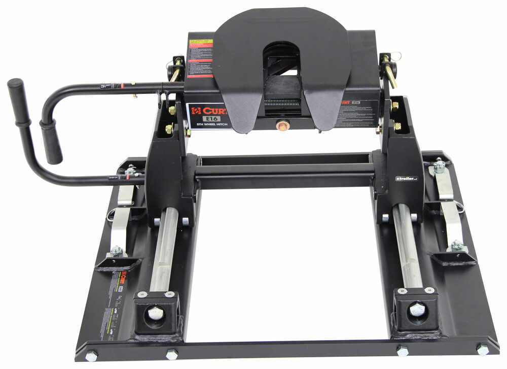 Curt E16 5th Wheel Trailer Hitch w/ Slider for Ford Towing Prep Package - Slide Bar Jaw - 16,000 lbs 12 Inch Fore/Aft Travel C16515-16020