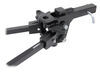 curt weight distribution hitch wd only short-arm system with shank - trunnion bar 10 000 lbs gtw 1 tw