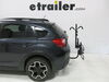 "Curt 2 Bike Platform Rack - 1-1/4"" and 2"" Hitches - Frame Mount - Tilting Bike Lock C18085 on 2014 Subaru XV Crosstrek"