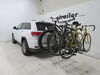 0  hitch bike racks curt platform rack tilt-away fold-up in use
