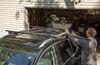 "Curt Roof Rack for Raised Side Rails - Aluminum - Black - 53-3/8"" Long 53 In Bar Space C18118"