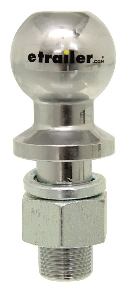 "2-5/16"" Hitch Ball - 1-1/4"" Diameter x 2-3/4"" Long Shank - Chrome - 20,000 lbs Chrome-Plated Steel C40008"