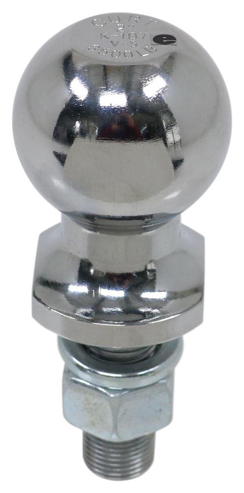 "2"" Hitch Ball - 3/4"" Diameter x 2-1/8"" Long Shank - Chrome - 3,500 lbs 3500 lbs GTW,Class I,Class II C40018"