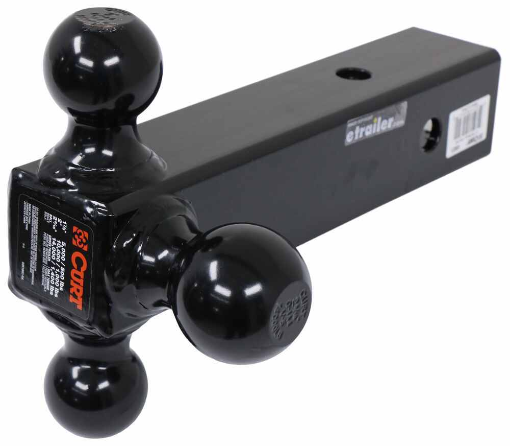 Fits 2-1//2-Inch Receiver CURT 45651 Multi-Ball Trailer Hitch Ball Mount 2-5//16-Inch Balls 14,000 lbs 2 1-7//8